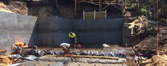 Blairgowrie Beach House Renovation - Concrete Slab