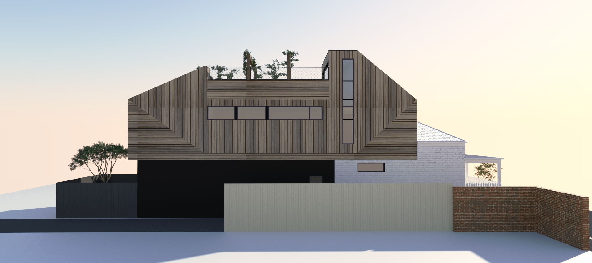 single fronted terrace house renovation town planning application