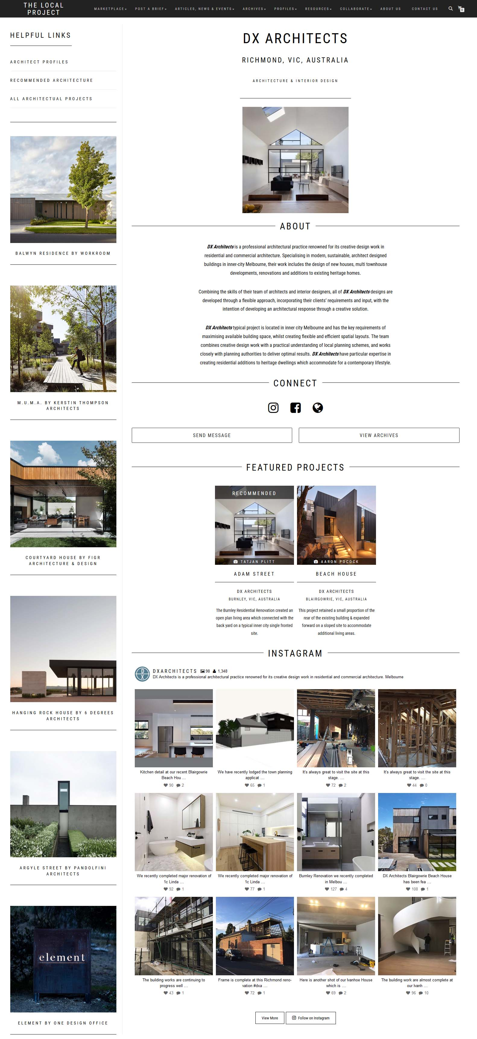 Click Here For Further Information Of Our Profile Feature Article On The  Local Project